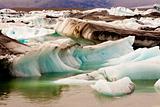 Glacier ice - Jokulsarlon lake - Iceland