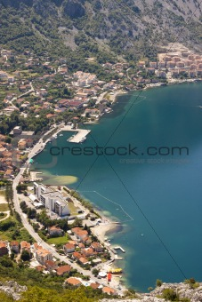 Aerial view on Risan - Montenegro