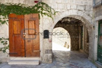 Old gate and wooden door