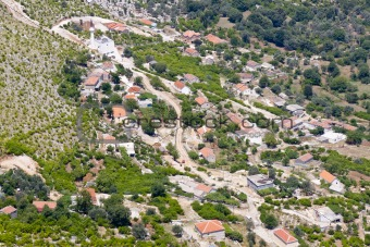 Aerial view on small Balkans village - Montenegro