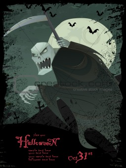 Vector Halloween template