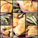 Healthy bread collage