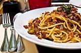 Italian meat sauce noodles
