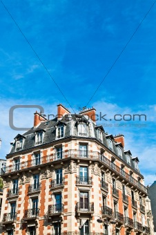 antique city building in paris,france