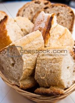 bread in basket - little roll breads in basket