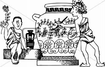 Ancient vase painter