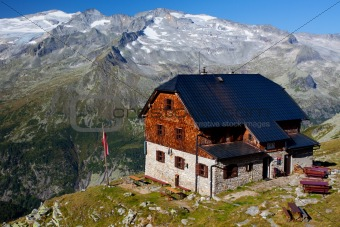 Alpine mountain hut