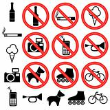 Prohibitory signs.