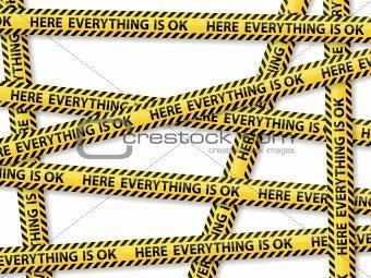 Caution tape concept