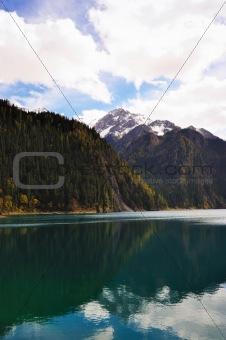 Forest and lake landscape of China jiuzhaigou