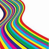 varicoloured abstract lines. Vector illustration