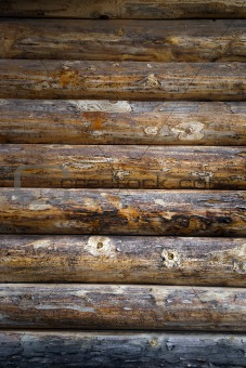 Timbered wall
