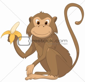 Cartoons_0049_Monkey_Vector_