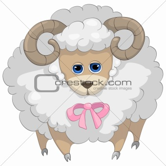 Cartoons_0070_Ram_Vector