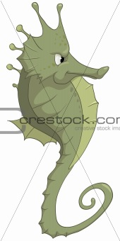 Cartoons_0075_Sea Horse_Vector