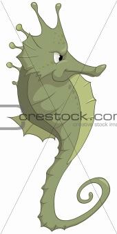 Cartoons_0075_Sea Horse_Vector