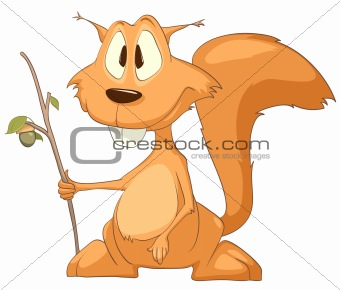 Cartoons_0083_Squirrel_Vector_