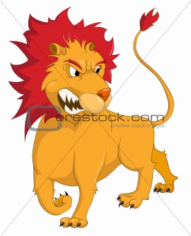 Cartoons_0097_Lion_Vector