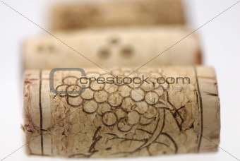 Three corks in row.