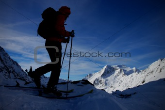 Ski touring trip