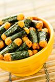 Rice and seaweed crackers Nori Maki