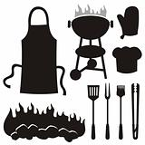 Barbecue silhouettes