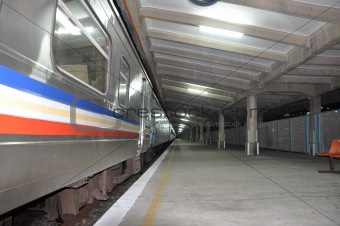 View of KTM railway station in Singapore