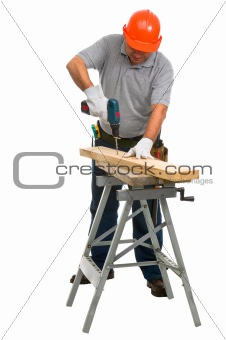 Isolated manual worker