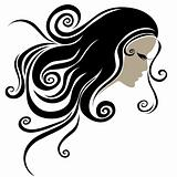 Vector Decorative portrait of woman