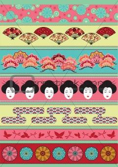 Set of Japan ornaments