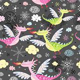 pattern of dragons