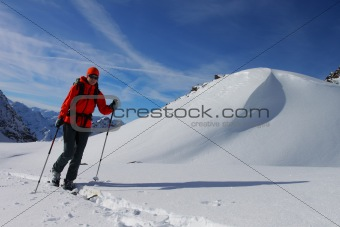Ski touring in the Alps