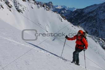 Ski winter ascent