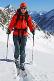 Ski touring in high mountains