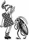 Girl and beetle