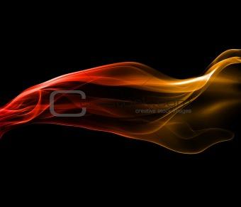 Powerful smoke abstract