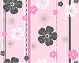 seamless vector flower pattern