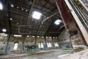 Abandoned industrial hall