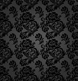 Seamless pattern, curtains floral, vector