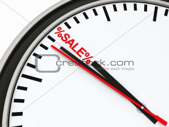 3d time sale clock red