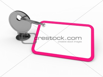 3d key attached pink