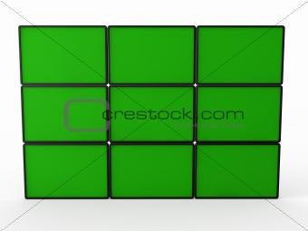 3d flat lcd wall