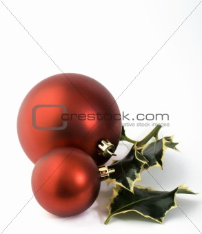 baubles and holly