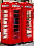 two red phone booth