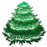 Simple Christmas tree isolated