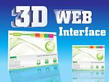 3d web interface design