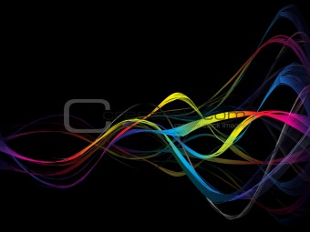 abstract colorful rainbow smoke background