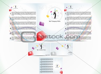abstract corporate id template