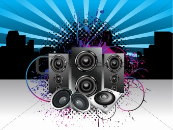 abstract musical night club background