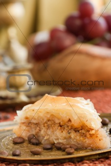 Baklava in oriental setting